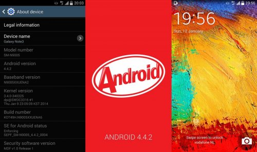Android 4 4 2 KitKat Released for Galaxy Note 3 SM-N900 and SM-N9005
