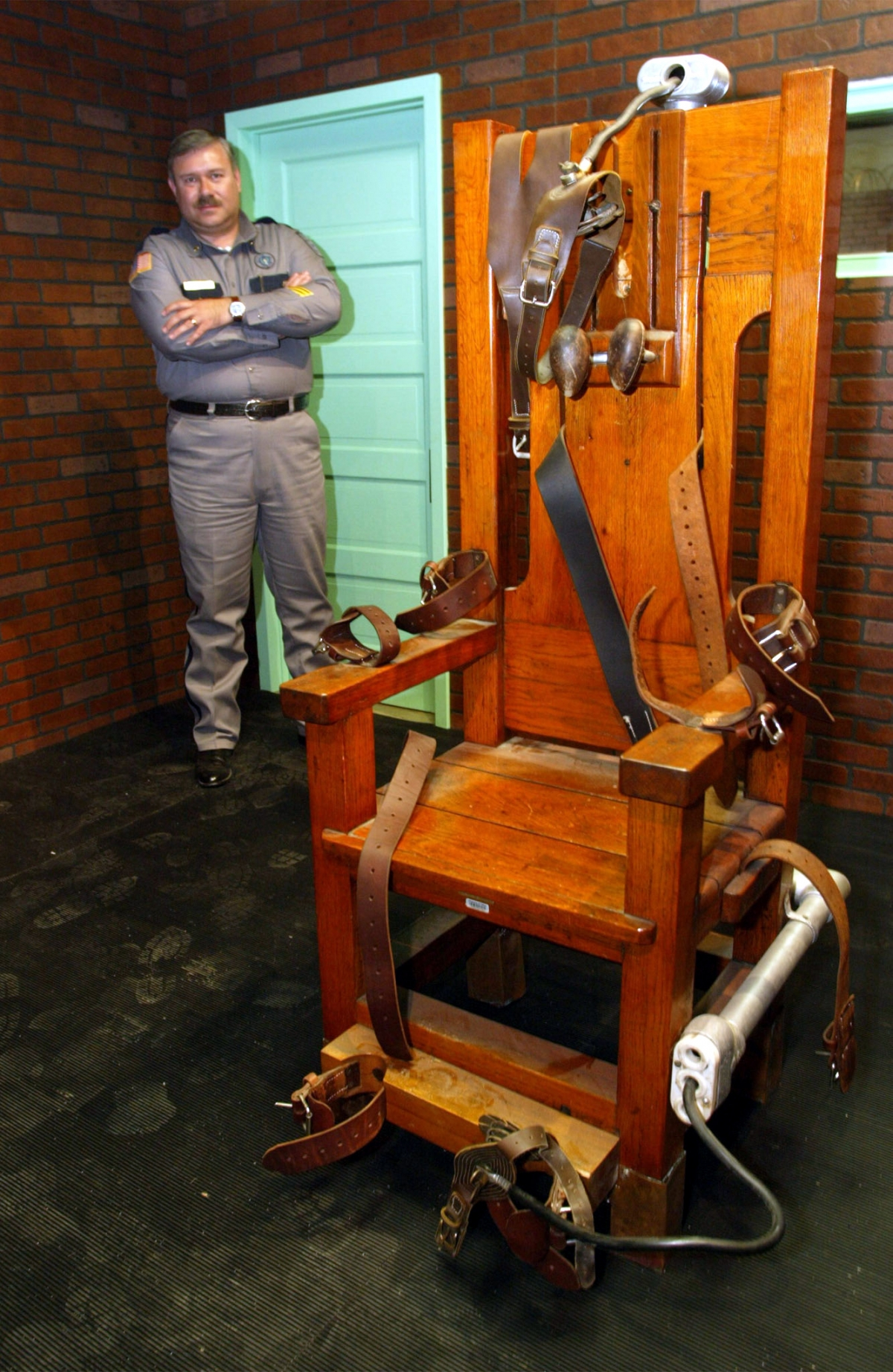 """Old Sparky,"" the Texas electric chair in which 361 killers were executed."