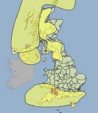 Severe weather warnings across the UK