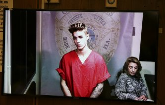 Pop singer Justin Bieber appears via video conference in his first court appearance since being arrested on a drunken driving charge