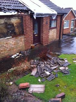 Galley Common, Warwickshire as mini-tornado swept through on Saturday