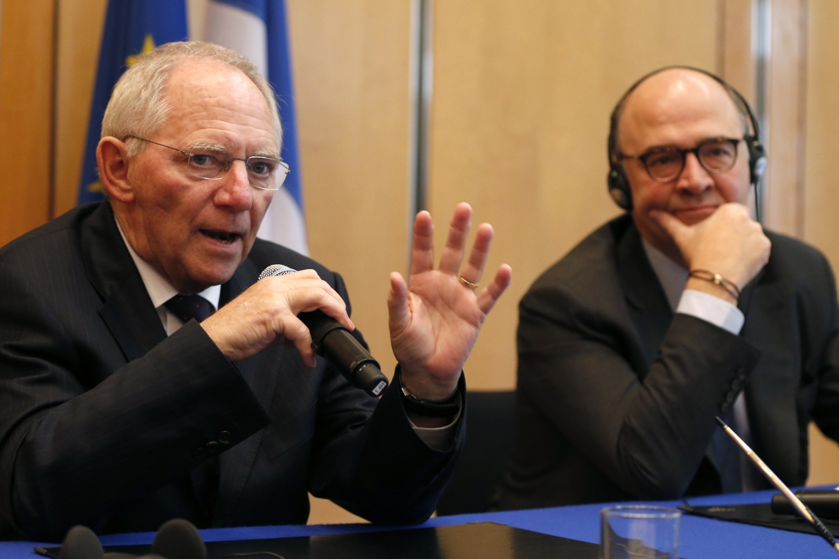 Pierre Moscovici and Wolfgang Schaeuble
