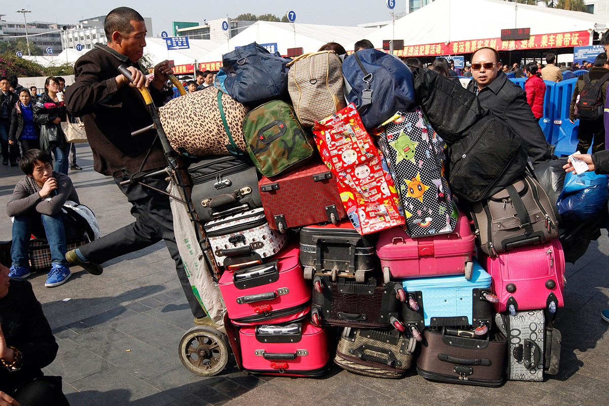 travel luggage cart