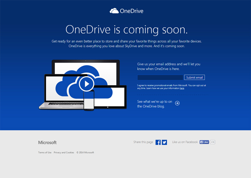Microsoft has rebranded the SkyDrive as OneDrive