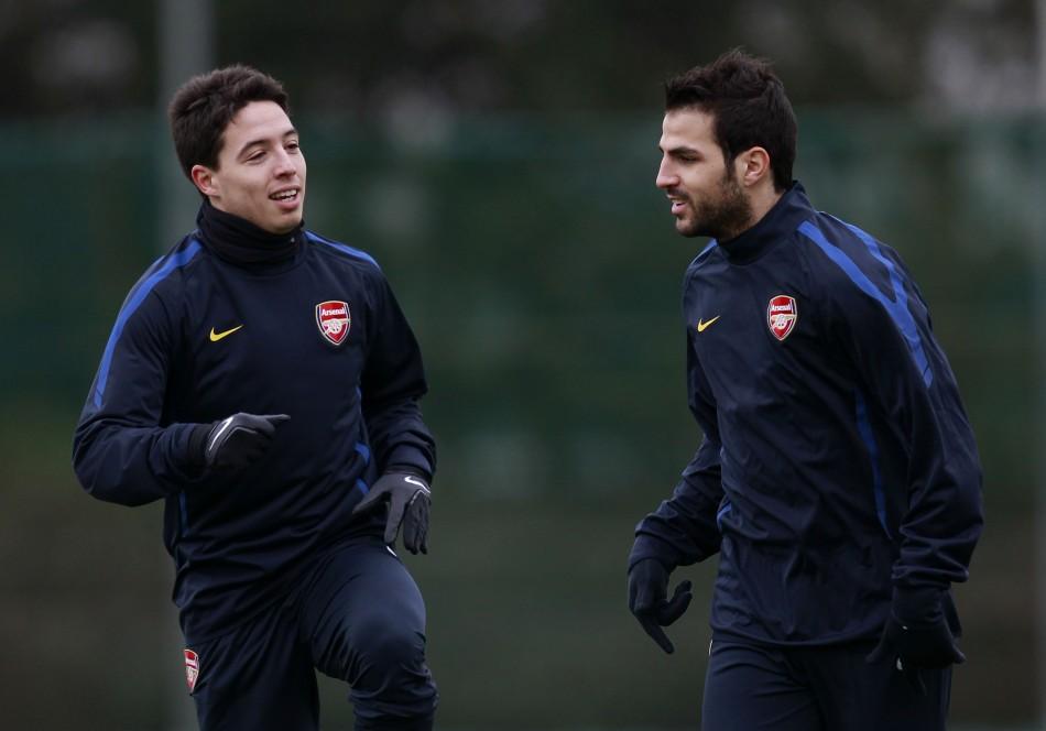 Samir Nasri and Cesc Fabregas