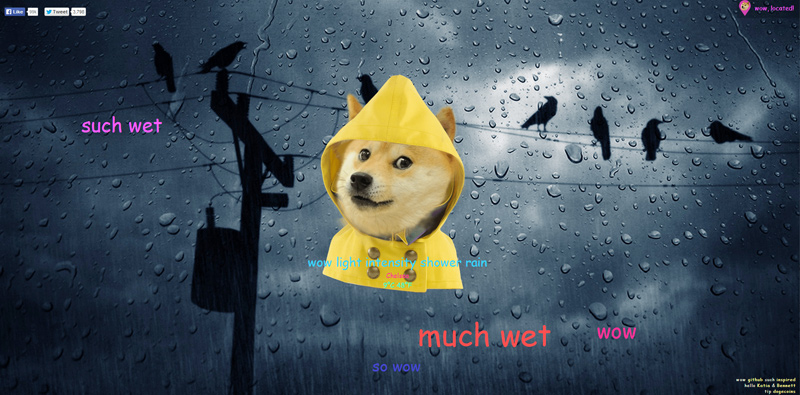 Doge Weather - everyone's favourite internet meme tells you the weather