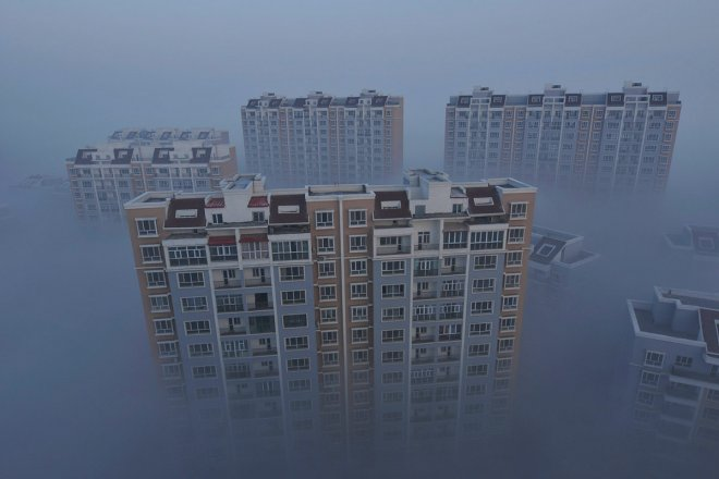 buildings smog