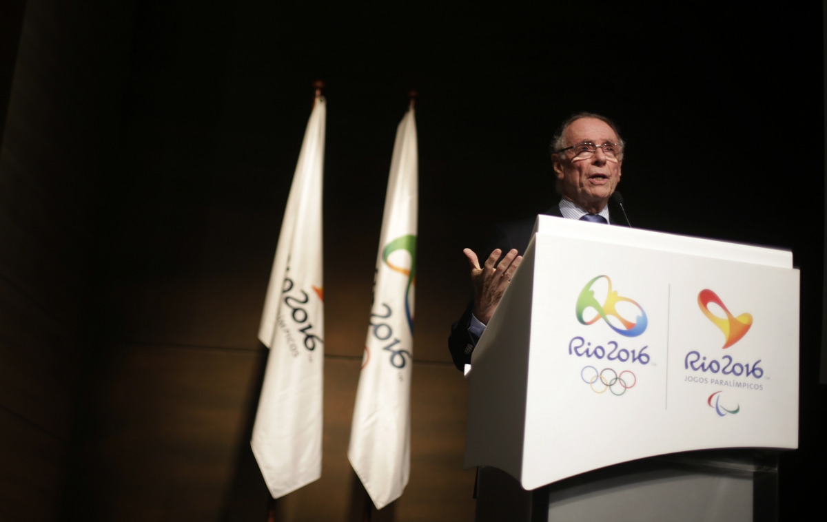 President of Brazil's Olympic Committee Carlos Arthur Nuzman attends a conference on the budget for the Rio 2016 Olympic and Paralympic Games in Rio de Janeiro