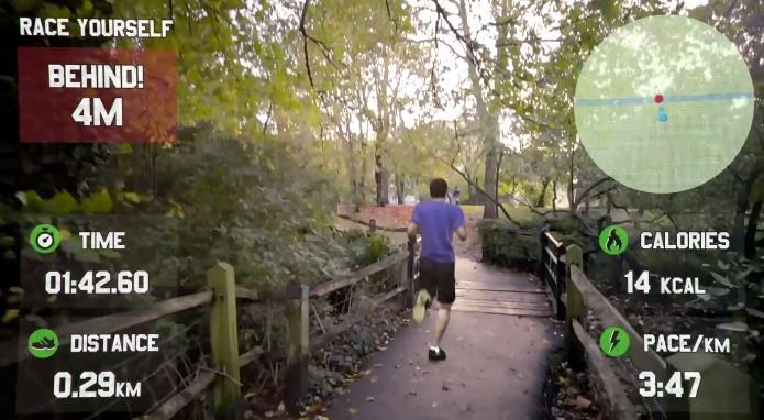 Race Yourself Google Glass