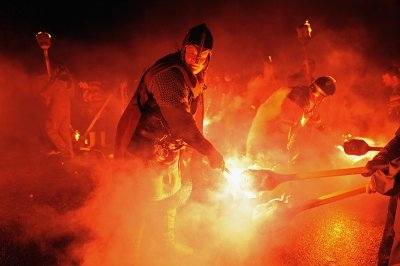 up helly aa fire