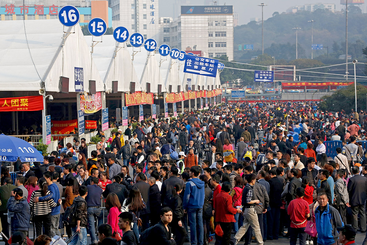 railway crowds