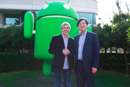 Google Sells Motorola to Lenovo Larry Page Yang Yuanqing