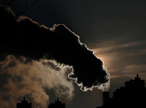 Pollution Harbin City China