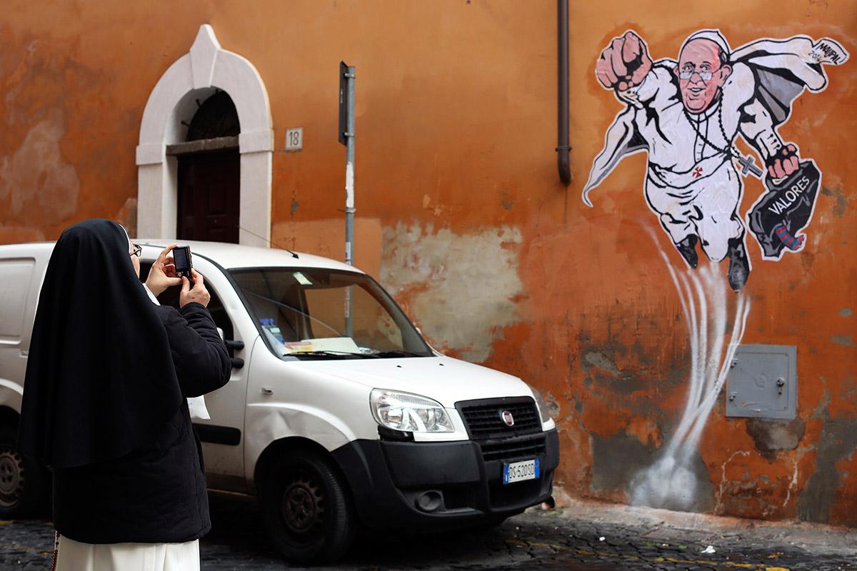 pope graffiti