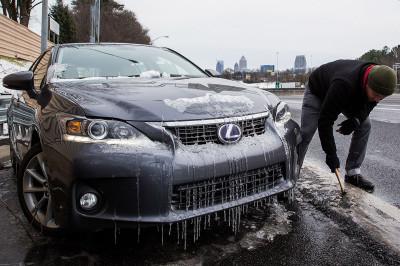 atlanta car icicles