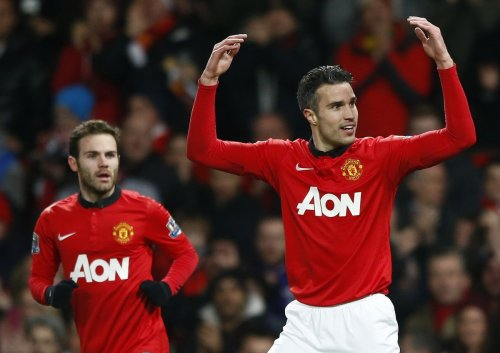 Juan Mata and Robin van Persie