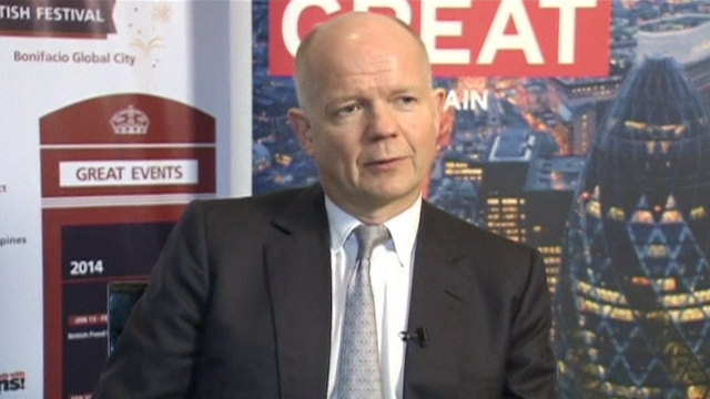 Hague Says UK to Look to Asia for Trade