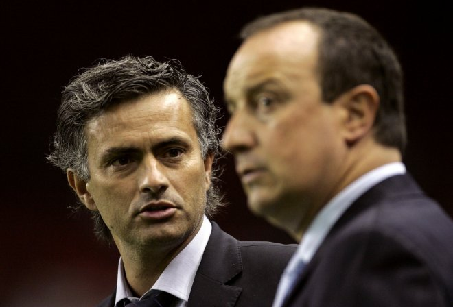 Jose Mourinho and Rafa Benitez
