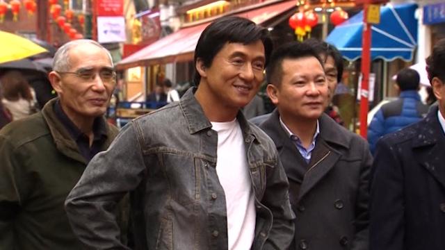 Jackie Chan, Bruce Lee Wax Figures Visit Chinatown