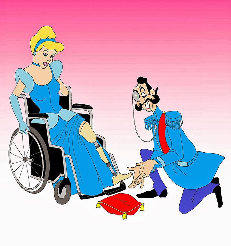 Disabled Disney Princesses Cinderella