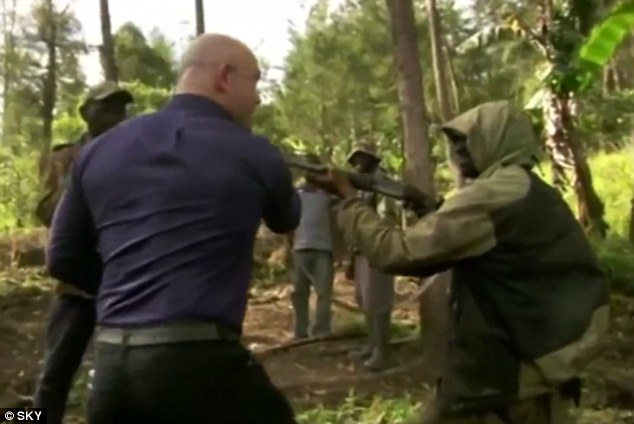 Ross Kemp defies gun law by facing down bandits during Extreme World  filming