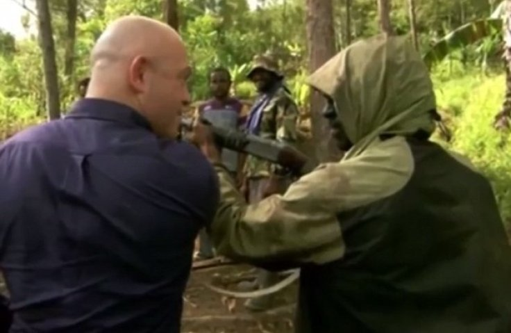 Gunman meets the former face of enforcement in Walford in a Papua New Guinea forest