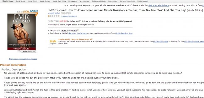 Lmr Exposed Amazon Drops Guide How To Rape Book