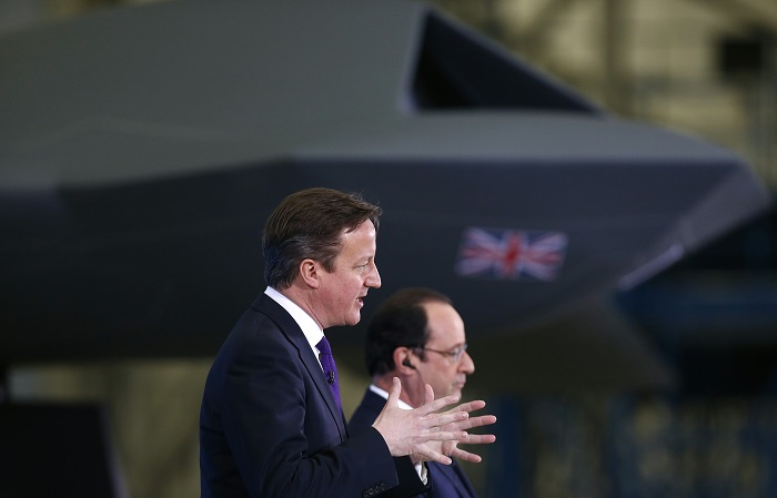 David Cameron and François Hollande launch a range of new defence deals in the first Anglo-French summit since Hollande was elected May 2012.
