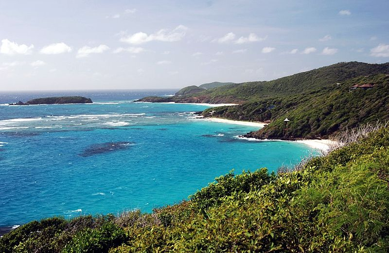 The private Caribbean island of Mustique