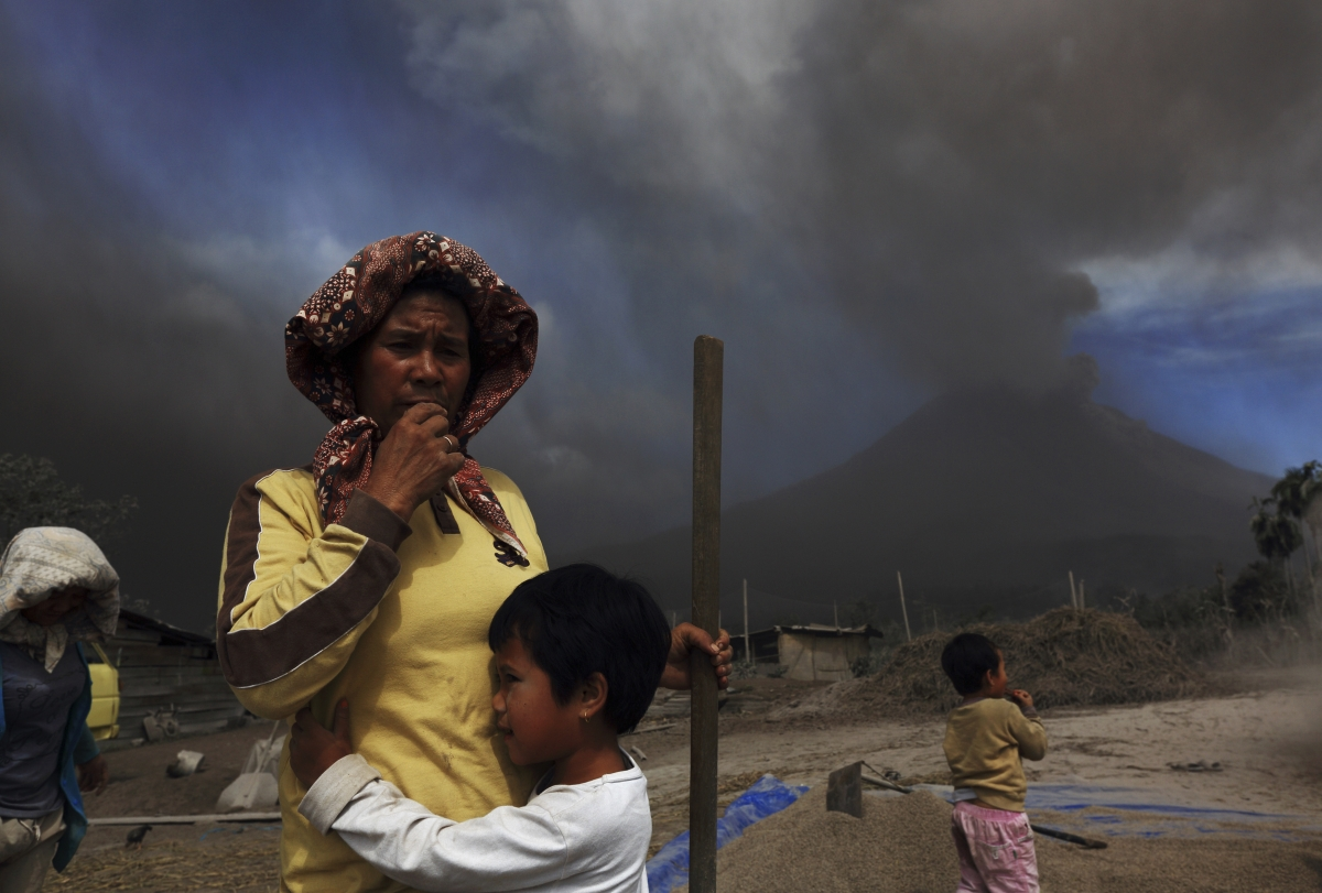 Mount Sinabung in Indonesia erupts, with a death toll of at least 11 people