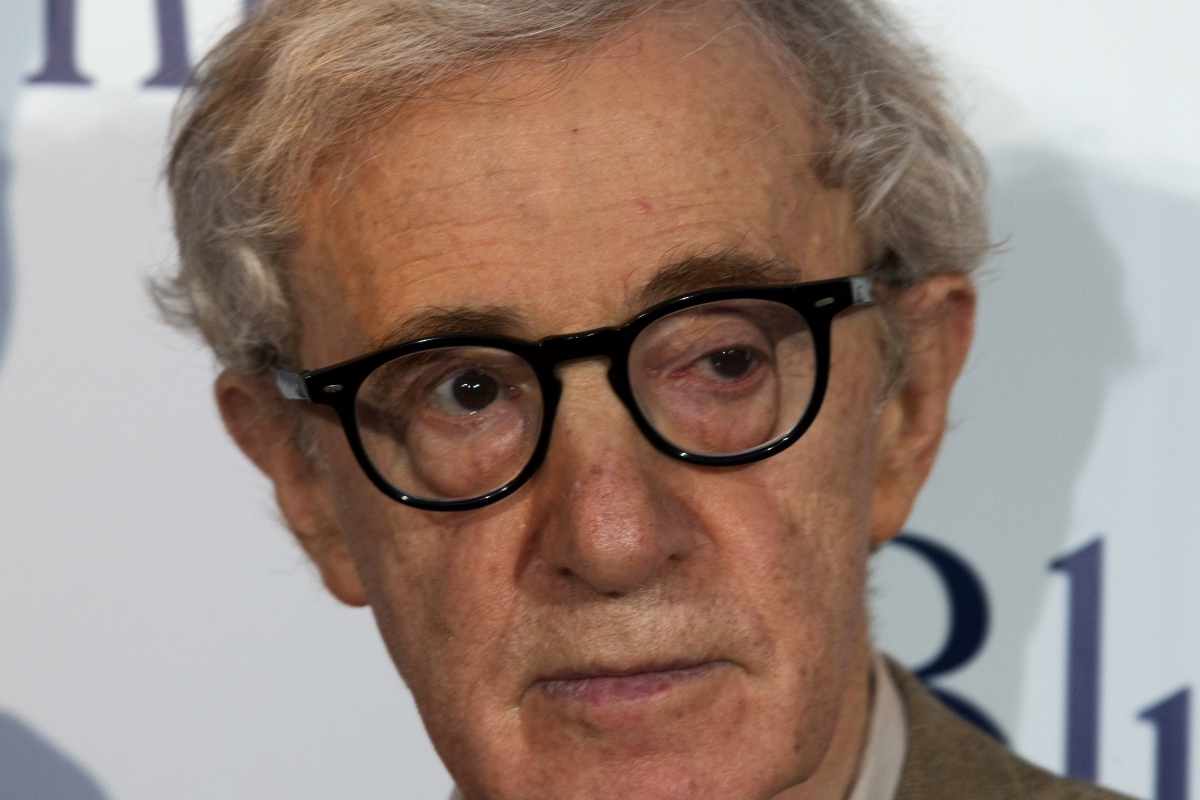 Film director Woody Allen at the premiere of his film Blue Jasmine