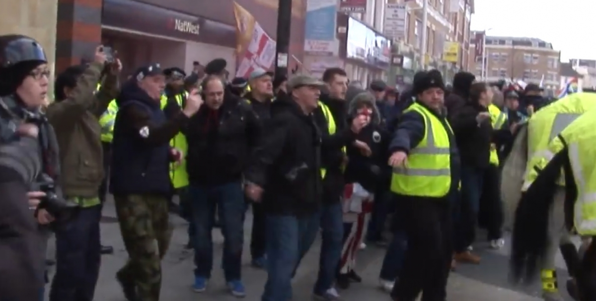 EDL marchers