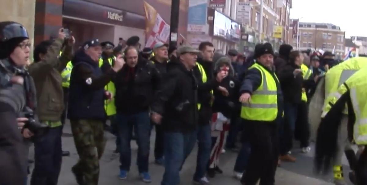 EDL marchers