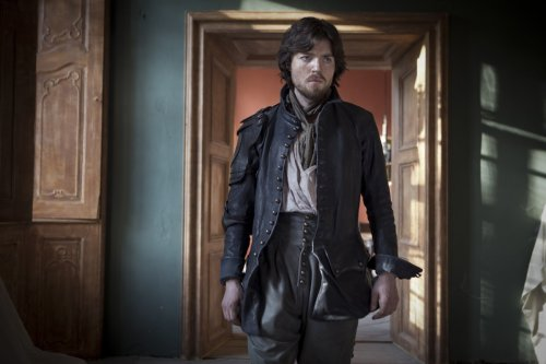 Athos (Tom Burke) has a lot to be grim about
