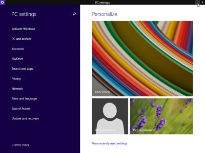 Windows 8.1 Update 1 PC Settings Page