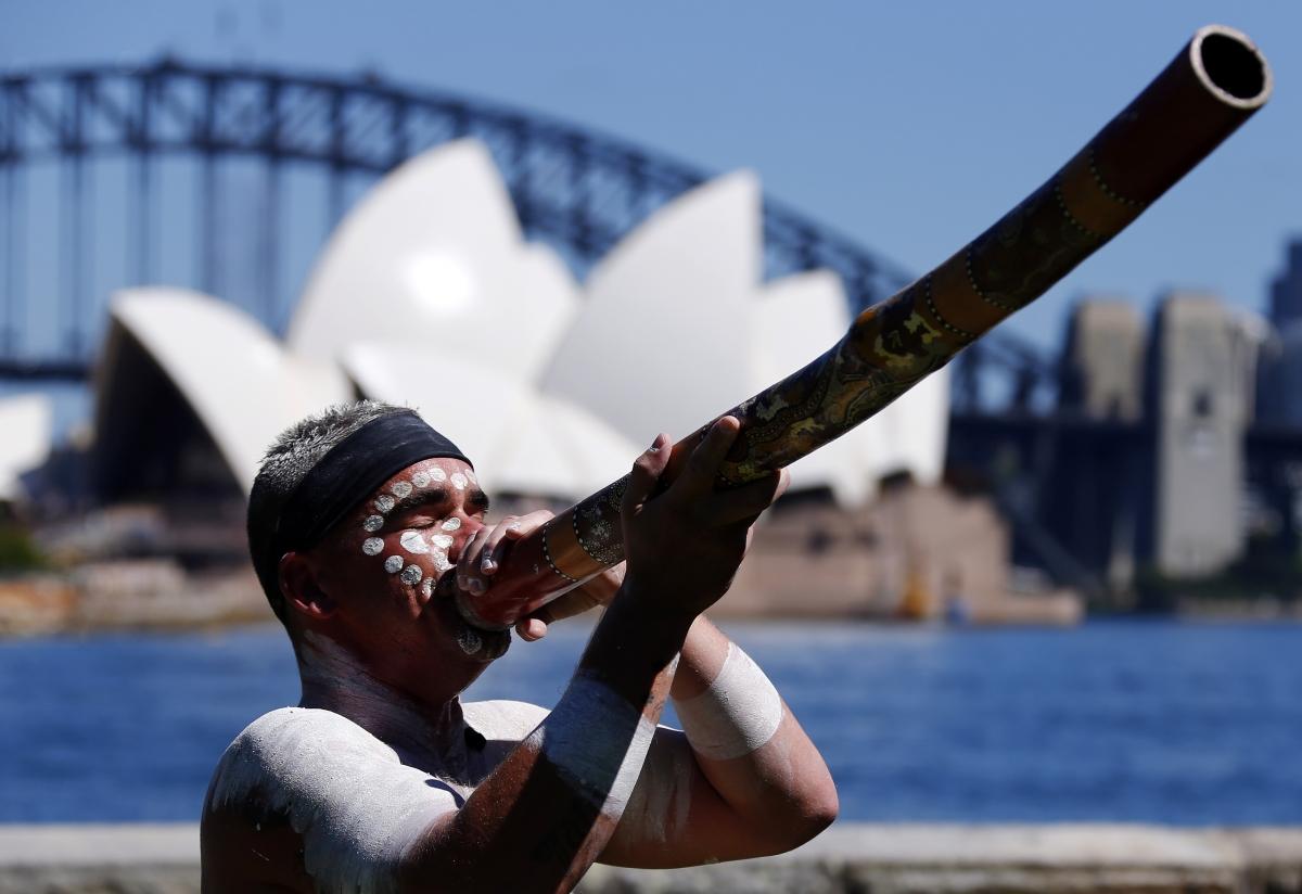 Aboriginal Man Sydney Opera House Australia