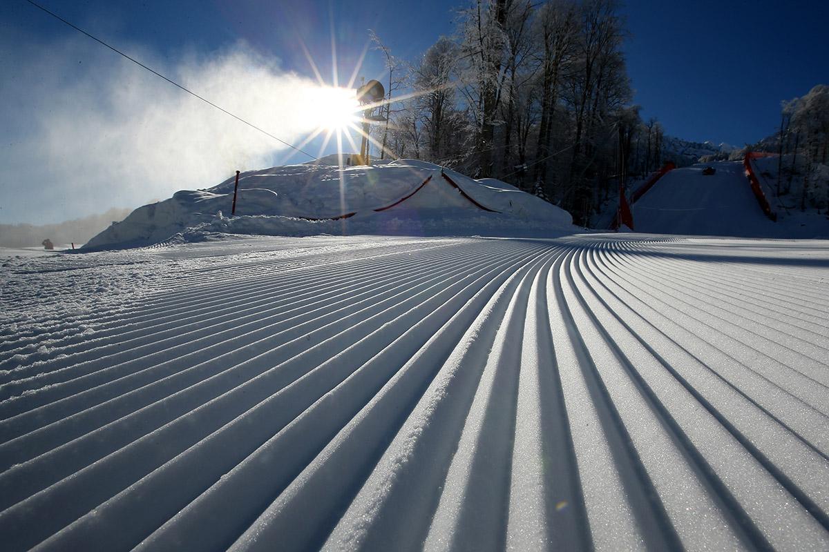 skiing area