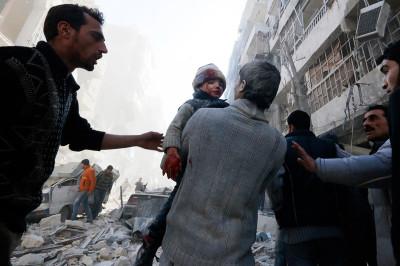 syria bomb child