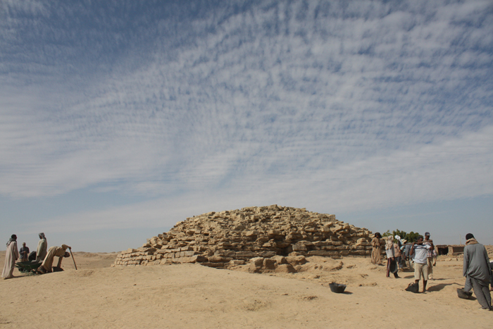 Archaeologists have discovered a 4,600-year-old step pyramid in Edfu, Egypt
