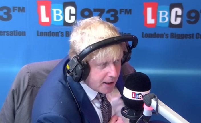 Boris Johnson on LBC Radio