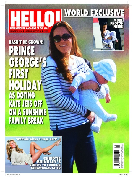 Hello cover of Prince George and Kate Middleton