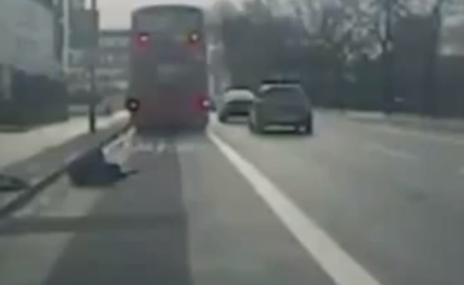 Man kicked out of bus window