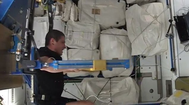 Work out in space with NASA astronaut Mike Hopkins on Google  Hangout