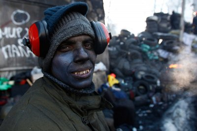 black face headphones