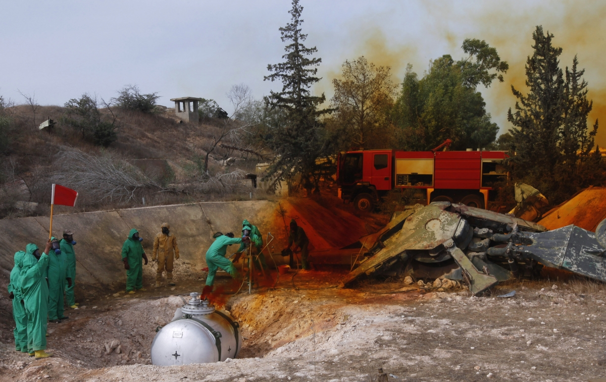 Libya destroys chemical weapons