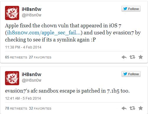iOS 7.1 Beta 5 Kills More Evasi0n7 Exploits to Make Jailbreaking Difficult