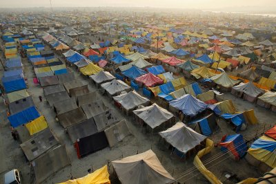 magh mela tents