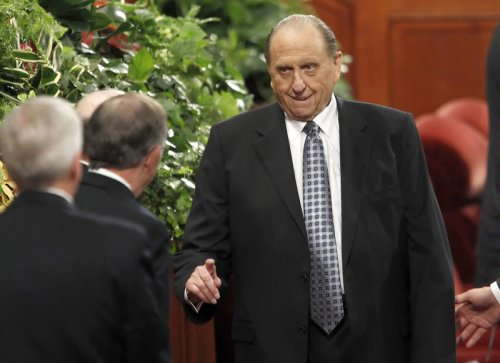 Mormon Church of Jesus Christ of Latter-day Saints President Thomas Monson