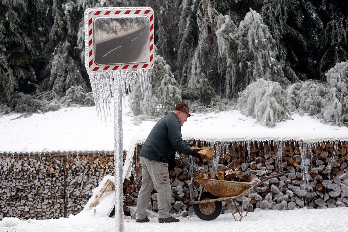 man wheelbarrow