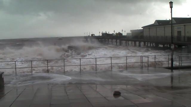 Cameron Pledges More Aid as Storms Batter Coastline